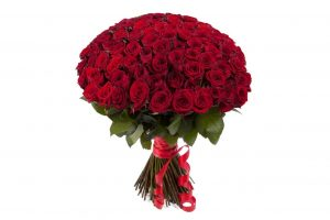 Букет из 101 розы красного цвета