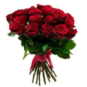 Букет из 25 роз красного цвета