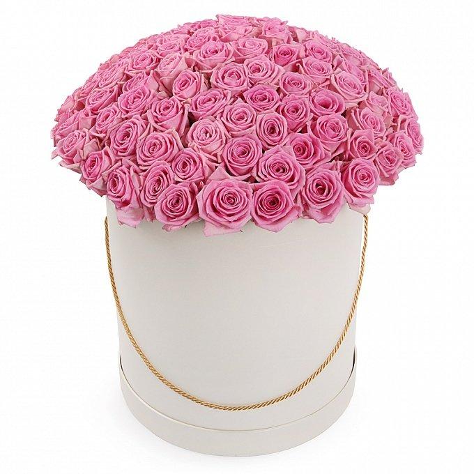 51 роза розового цвета в коробке