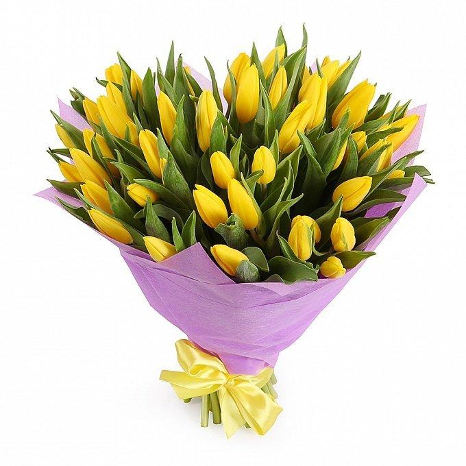 Букет тюльпанов желтого цвета