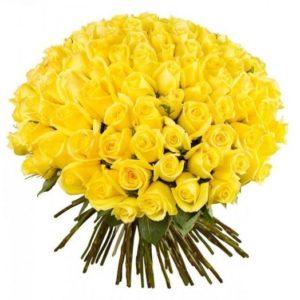 Букет из 101 розы Penny Lane желтого цвета