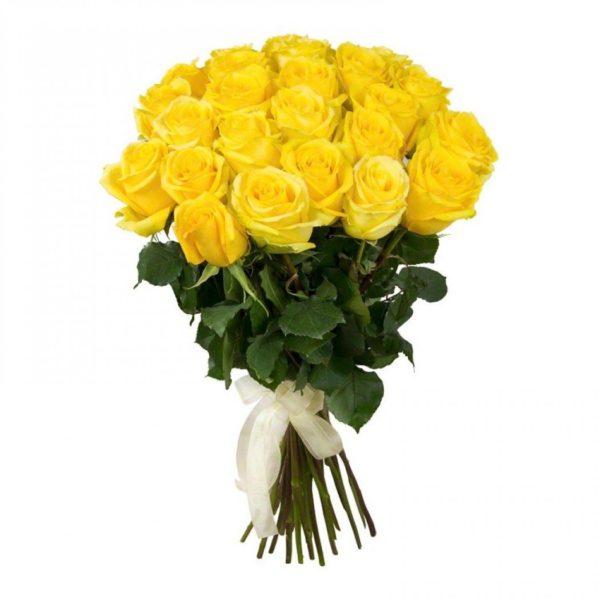 Букет из 25 роз Penny Lane желтого цвета