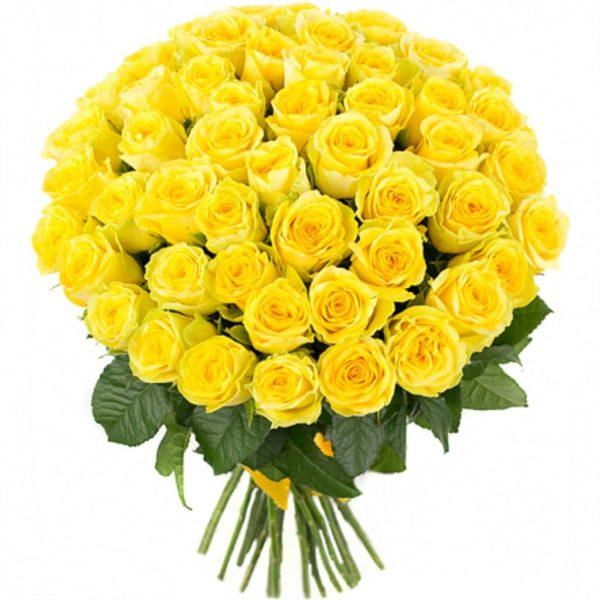 Букет из 51 розы Penny Lane желтого цвета