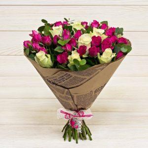 """Букет """"Романс"""" из кустовых роз"""