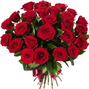 Букет из 25 роз Red Naomi красного цвета
