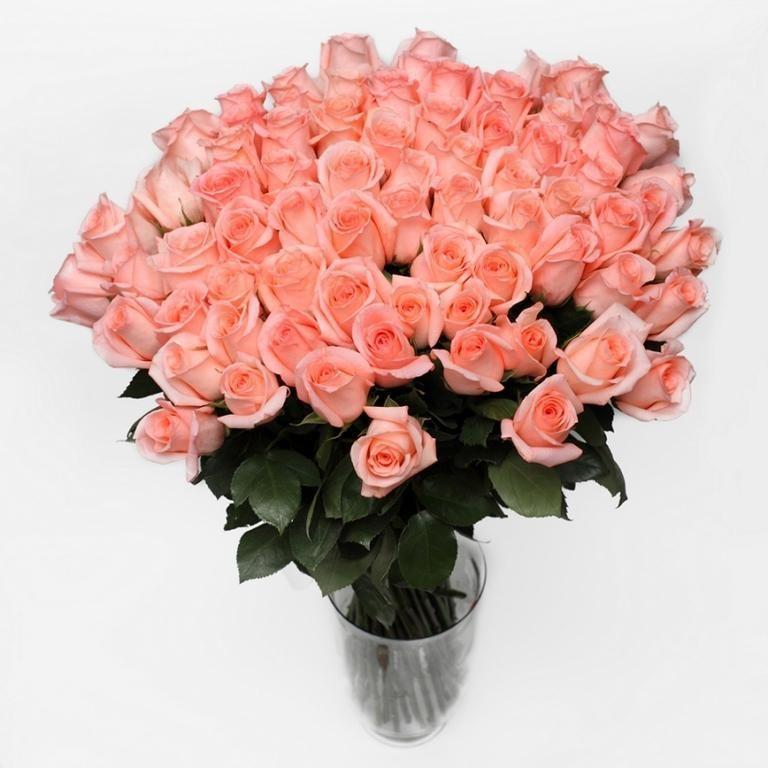 Букет из 101 розы Engagement розового цвета