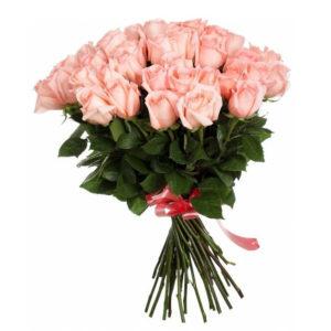 Букет из 51 розы Engagement розового цвета