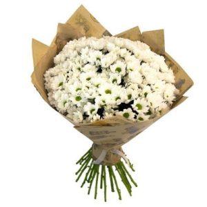 """Букет """"Герда"""" из белых хризантем"""