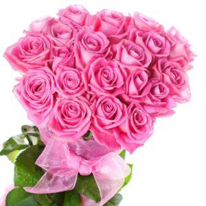 Букет из 25 роз Aqua розового цвета